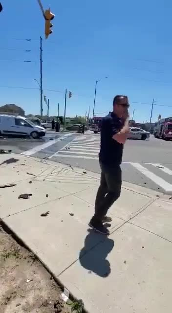 Staged car crash?