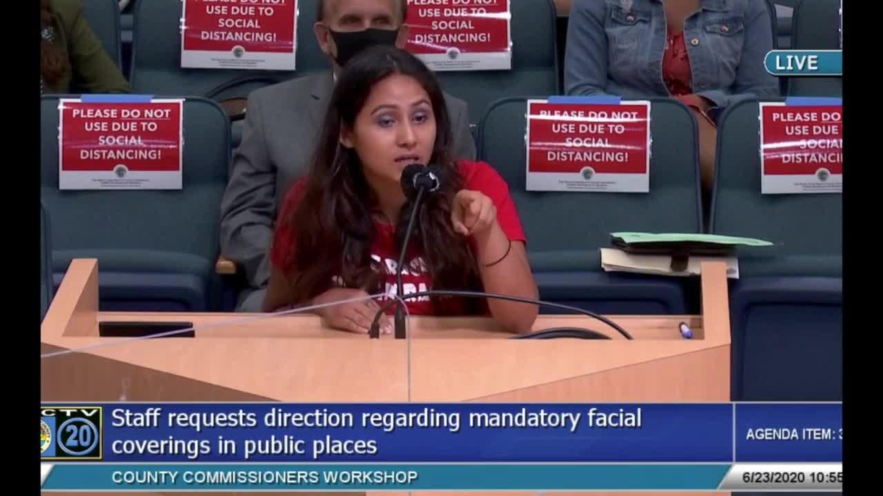 Palm Beach County Mask Mandate compilation 2020