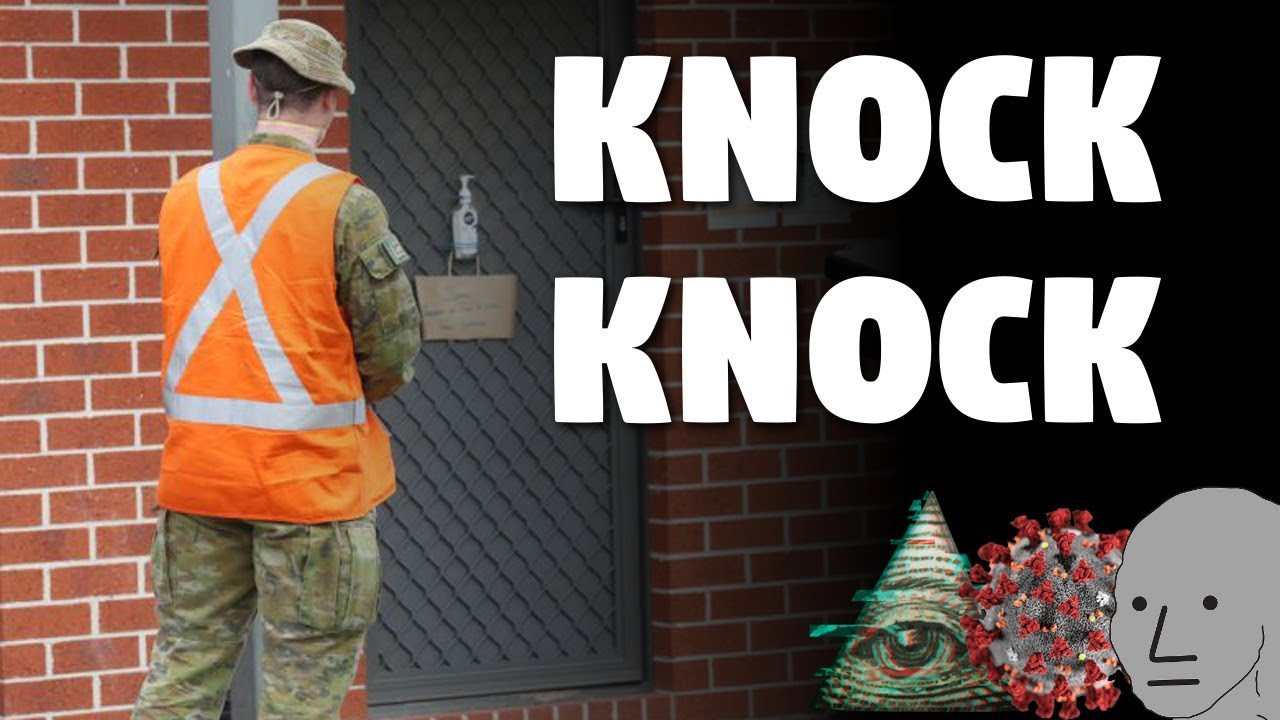 Australian Military Now Knocking Doors (Searching for Corona)