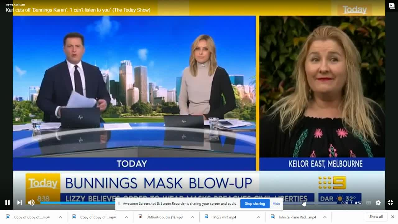 Karl Stefanovic abruptly ends interview with anti-masker