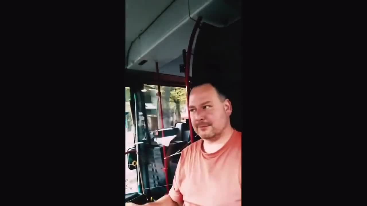 A German bus driver on his own route