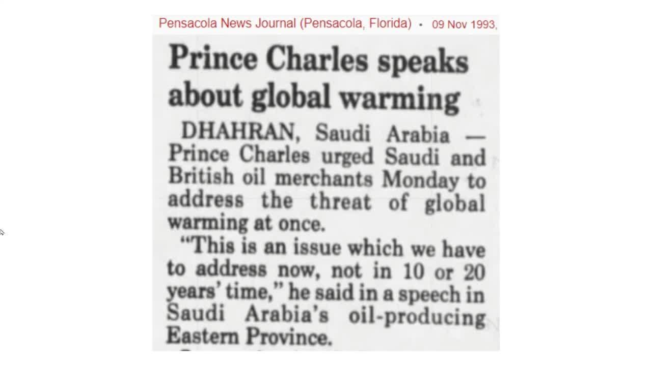 Prince Charles Climate Apocalypse