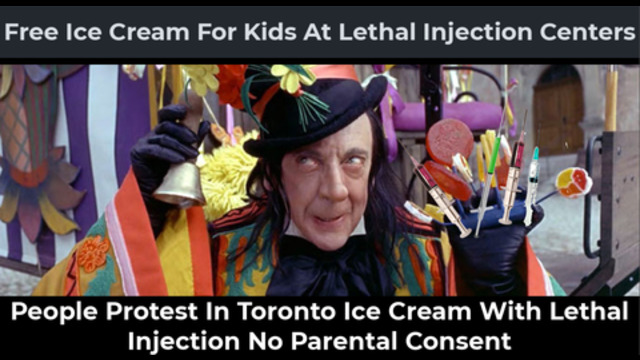 Free Ice Cream At lethal Injection Centers For Kids In Toronto No Parents Needed Angry Protest