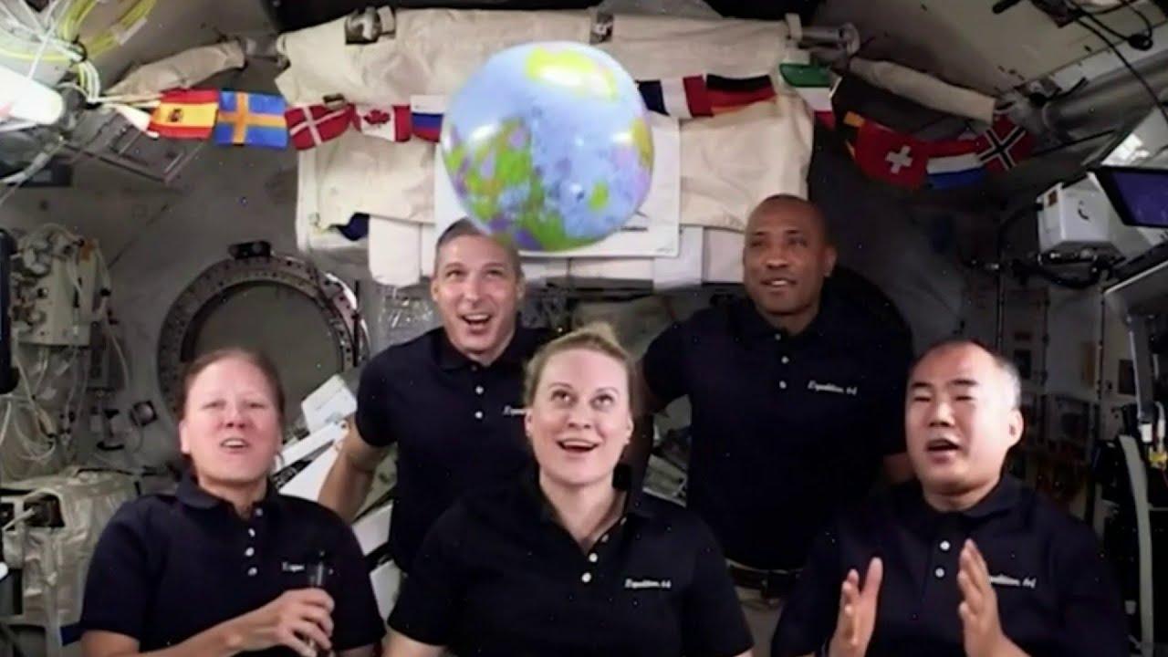 NASA astronauts New Year's ball drop