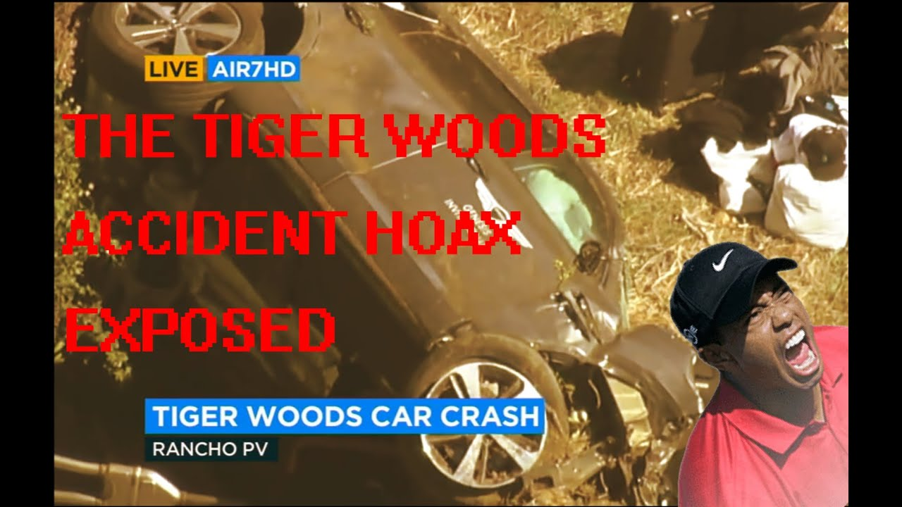 Exposing the Tiger Woods accident. Fake Story and a fake crash!