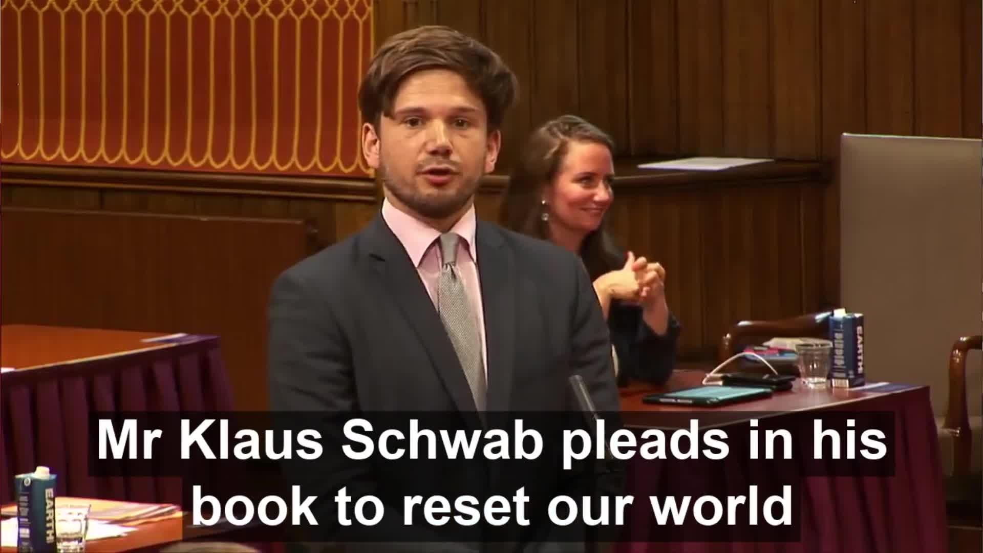 Dutch Politician Gideon van Meijeren confronts Prime-Minister Mark Rutte with The Great-Reset