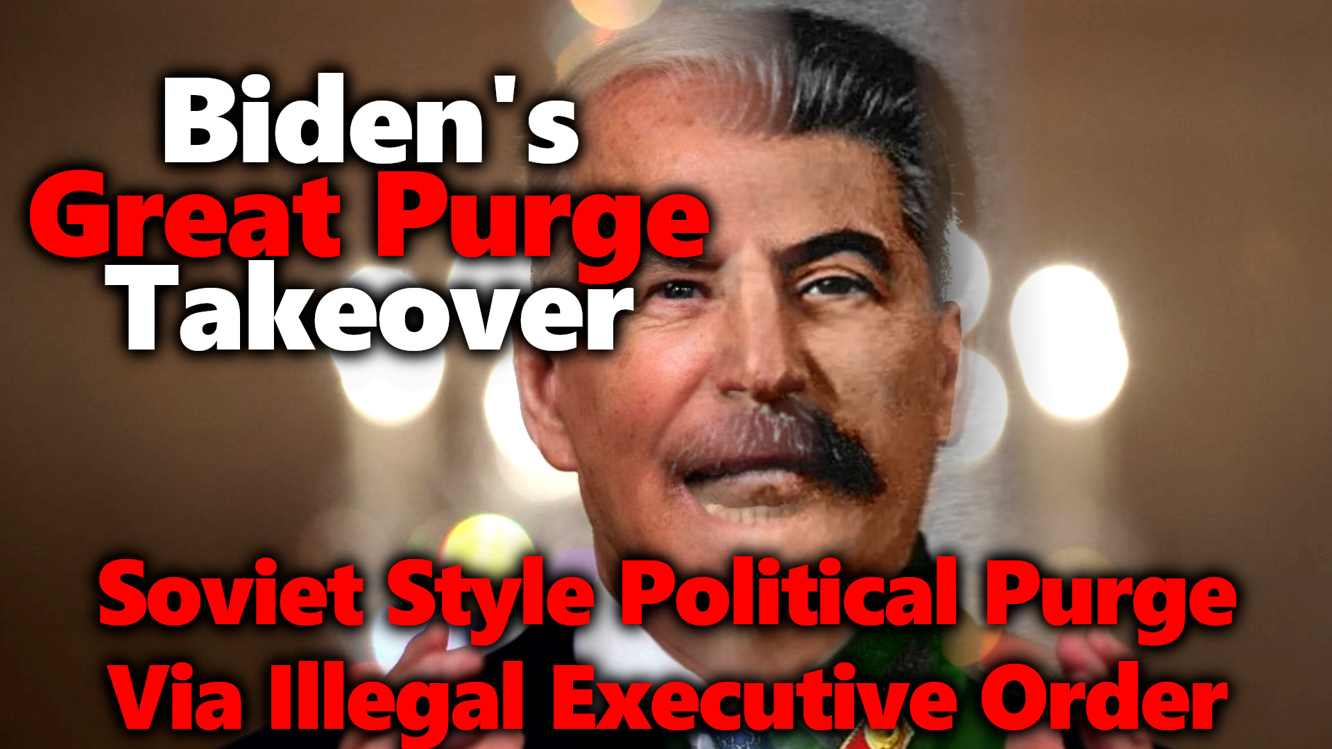Biden's Great Purge 2.0 Executive Order: All Non-Believers To Be Fired From US Gov't & Their Contractors (Vaccines)